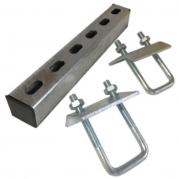 400mm U-Bolt Channel Beam Clamp Set